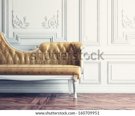 beautiful vintage sofa next to...
