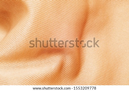 Beautiful viscose fabric color beige with folds #1553209778