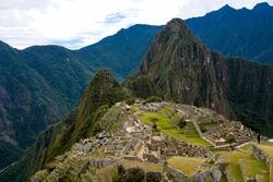 Beautiful vista of Machu Picchu with no people