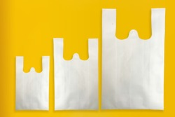 Beautiful W-Cut Non Woven grocery shopping bag with yellow background