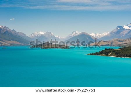Beautiful Wakatipu Lake, New Zealand