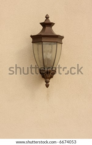 Beautiful Wall Lamp on Stucco Wall
