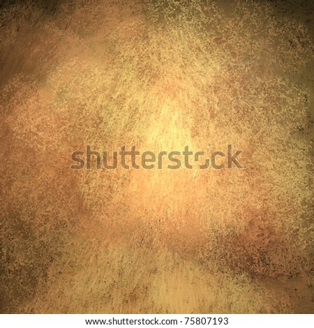 beautiful warm brown and gold background parchment or paper with peach and pink tones, streaky old grunge texture, highlights or middle spotlight, darkened corners and edges, and copy space