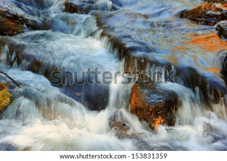 Beautiful water-cascade over natural rocks