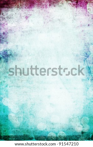 beautiful water color on vintage paper textured background with pink and aqua