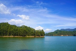 Beautiful Water Reservoir Mattupetty Dam Munnar Kerala India