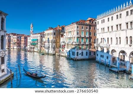 Beautiful water street - Grand Canal in Venice, Italy #276650540