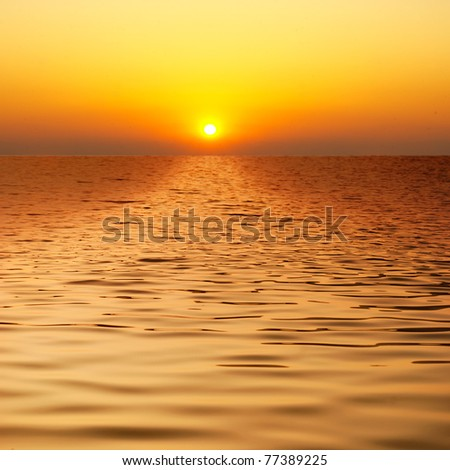 Beautiful water when sunset