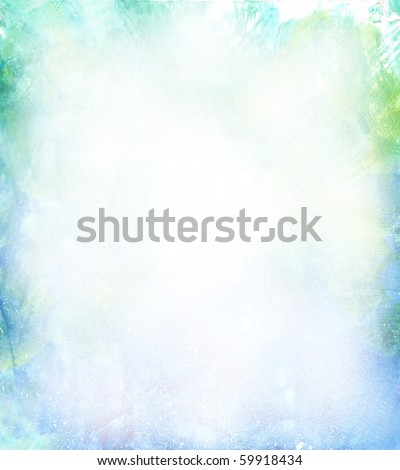 Beautiful watercolor background in soft green, blue and yellow- Great for textures and backgrounds for your projects!