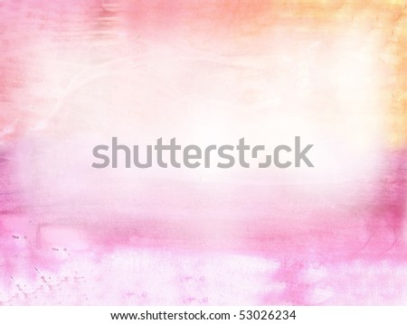 Beautiful watercolor background in soft pink and orange- Great for textures and backgrounds for your projects!
