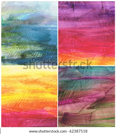 Beautiful watercolor background in soft purple, blue and orange- Great for textures and backgrounds for your projects!