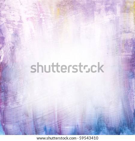 Beautiful watercolor background in soft white, purple and blue- Great for textures and backgrounds for your projects!