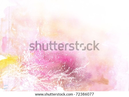 Beautiful watercolor background in soft white, yellow and pink- Great for textures and backgrounds for your projects!