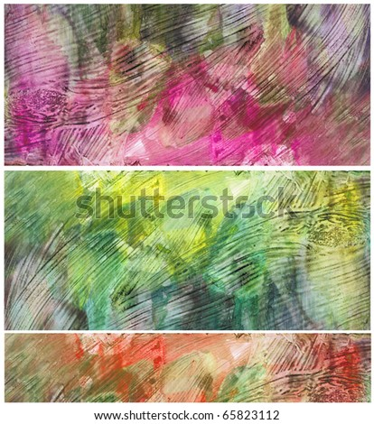 Beautiful watercolor background in soft yellow, orange and magenta- Great for textures and backgrounds for your projects!