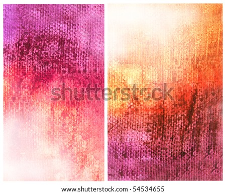 Beautiful watercolor background in vibrant orange and pink- Great for textures and backgrounds for your projects!