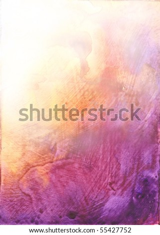 Beautiful watercolor background in vibrant orange and purple- Great for textures and backgrounds for your projects!