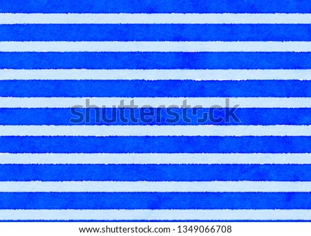beautiful watercolor color matching stripe line pattern vintage style #1349066708