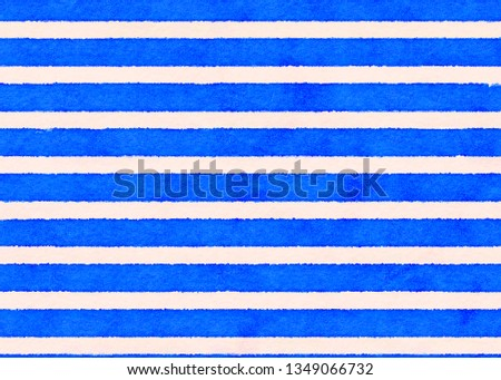 beautiful watercolor color matching stripe line pattern vintage style #1349066732