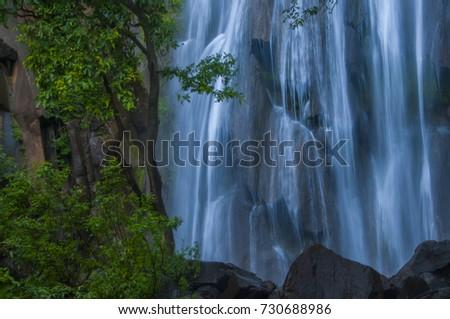Beautiful waterfall in forest, Muktagiri, Madhya Pradesh, India. #730688986