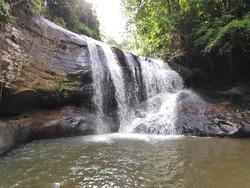 beautiful waterfall in kandy sri lanka