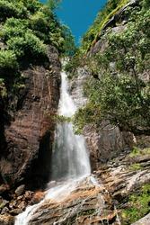 beautiful waterfall in kandy srilanka