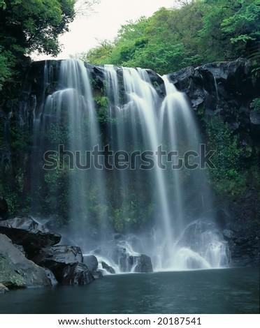 Beautiful waterfall in mountain area