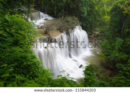 Beautiful waterfall in the forest