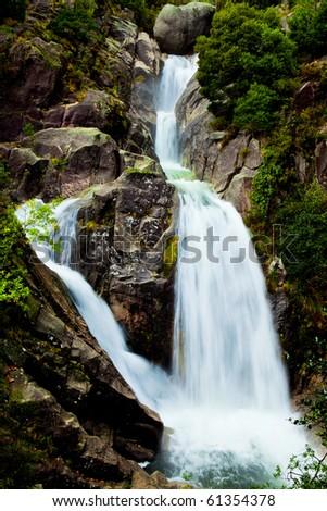 Beautiful waterfall of fresh and pure water