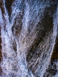 beautiful waterfall with nature texture