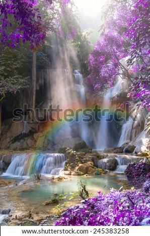 beautiful soft waterfall in - photo #37