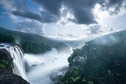 Beautiful waterfalls from Athirappilly, Kerala
