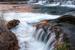 Beautiful waterfalls on the Huancaya River, Huancaya Peru
