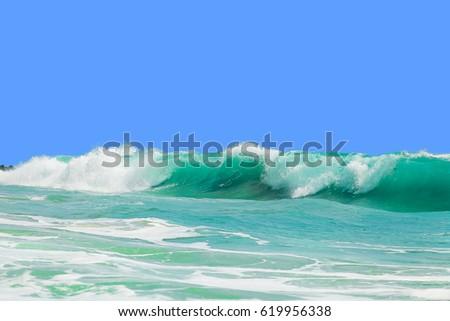 Beautiful waves off the coast of the island #619956338
