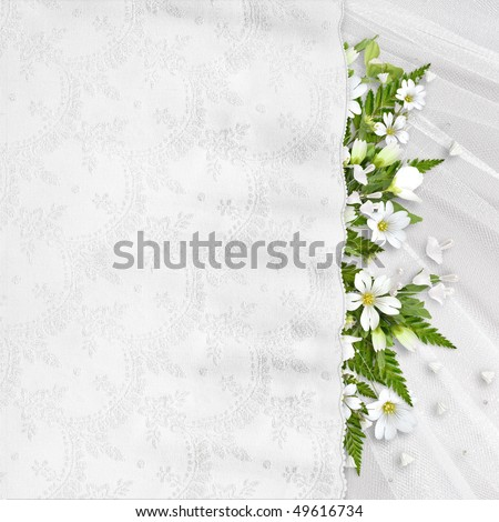 Beautiful wedding, anniversary, holiday background with white flowers ...