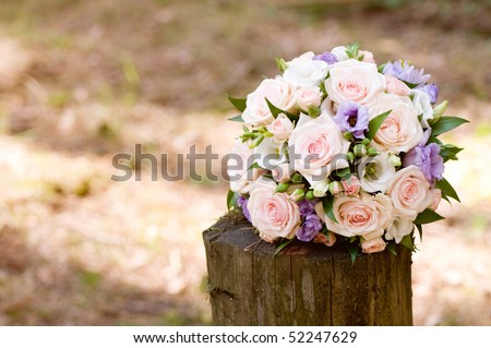 stock photo beautiful wedding bouquet background