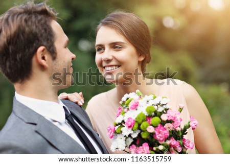 Beautiful wedding couple enjoying wedding #1163515759