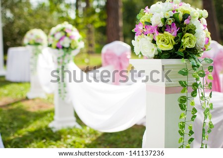 Beautiful wedding decorations