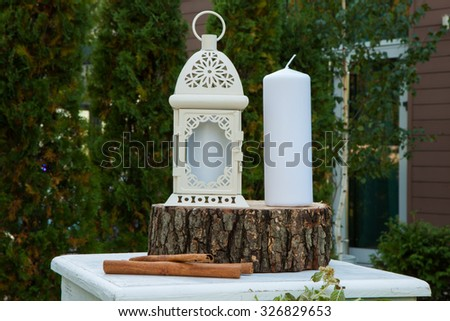 Beautiful wedding decorations. Wedding decoration in garden