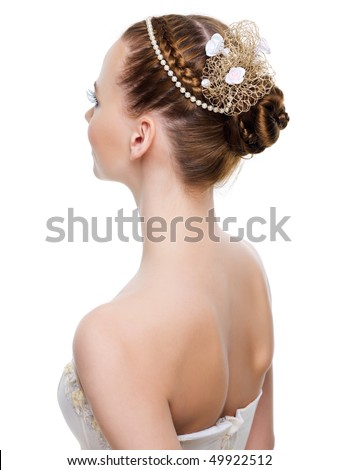 Beautiful wedding hairstyle from