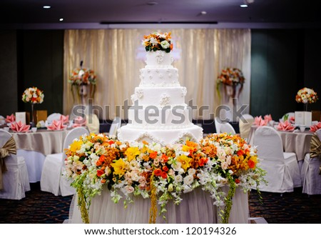 Beautiful wedding reception