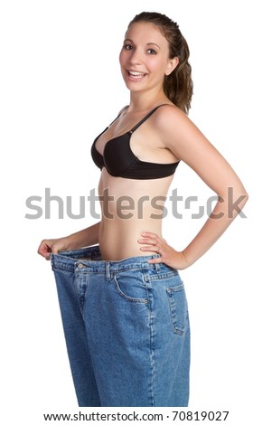 Beautiful weight loss woman smiling