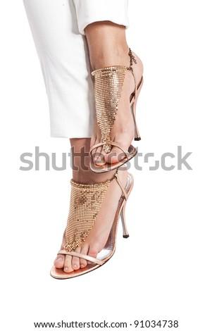 beautiful well-groomed ladies' feet Zdjęcia stock ©