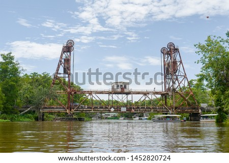 Beautiful West Pearl Bridge, Vertical Lift Bridge in Honey Island Swamp tour