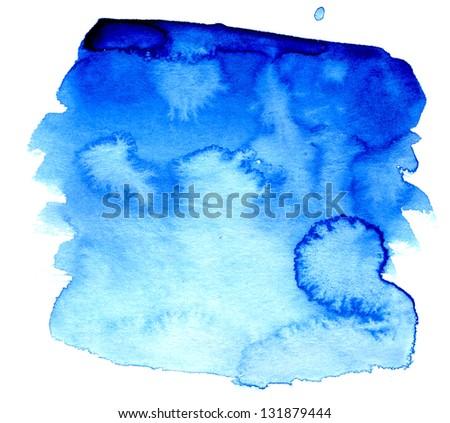 Beautiful wet watercolor background streaks - stock photo