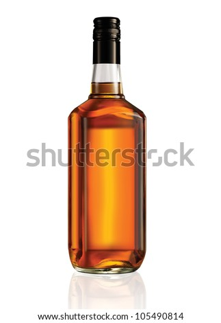 Beautiful Whisky Bottle against well lit background