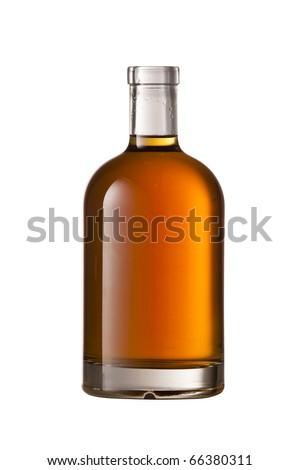 Beautiful Whisky bottle on white background #66380311