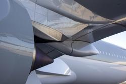 Beautiful White Aerodynamic Airplane Surfaces Background