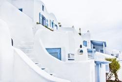Beautiful white architecture in Santorini, Greece