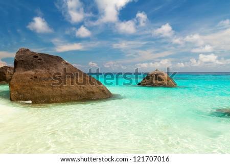 Beautiful white beach in Thailand