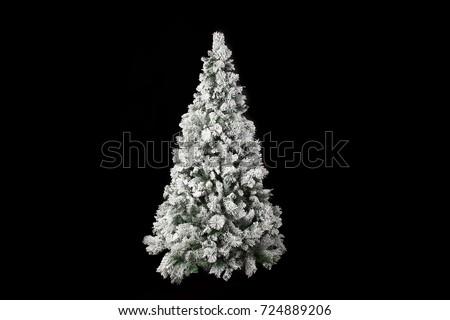 beautiful white christmas tree...